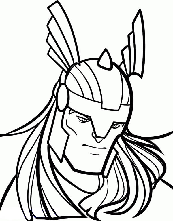 Free Thor Coloring Pages for Kids