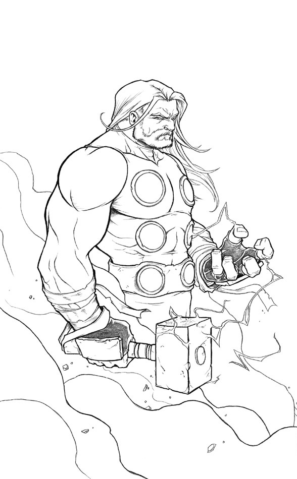 Thor Coloring Sheets