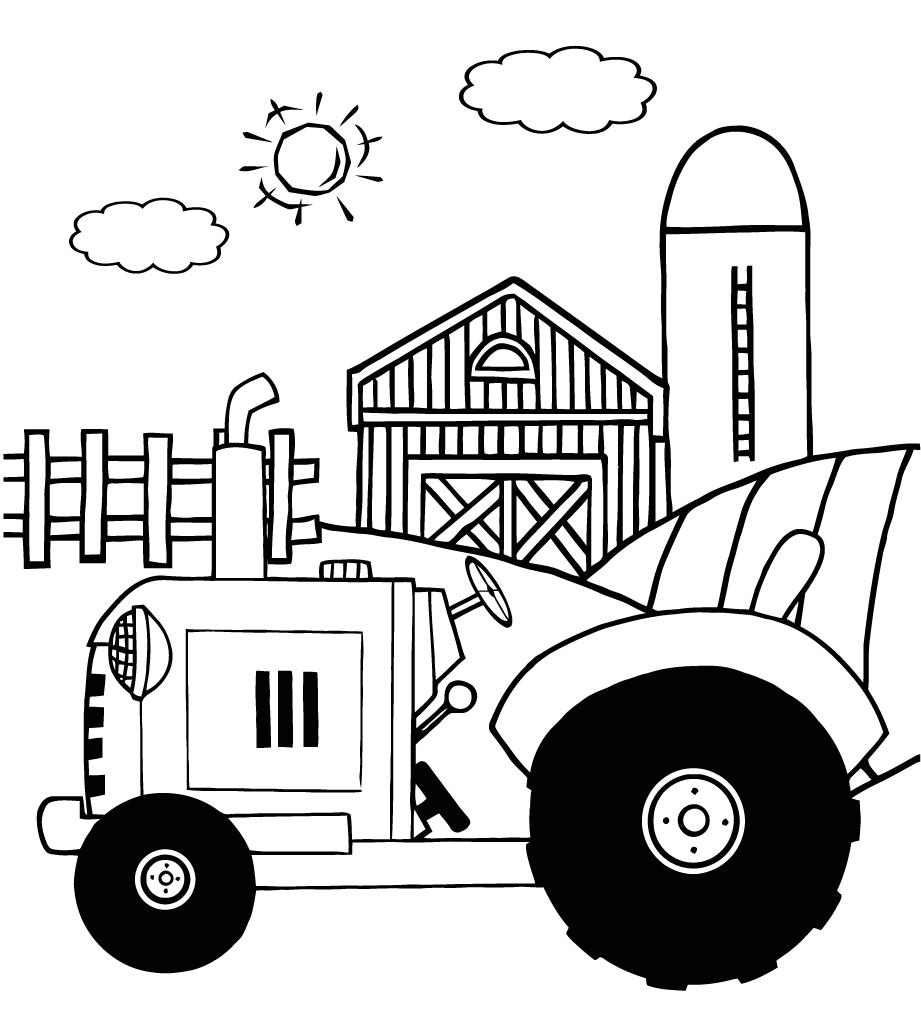 tractors coloring pages to print - photo#43