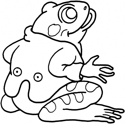 Frog Coloring Picture