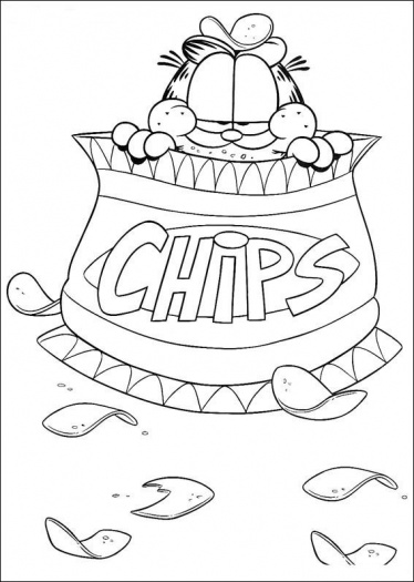 Garfield Coloring Pages 360ColoringPages