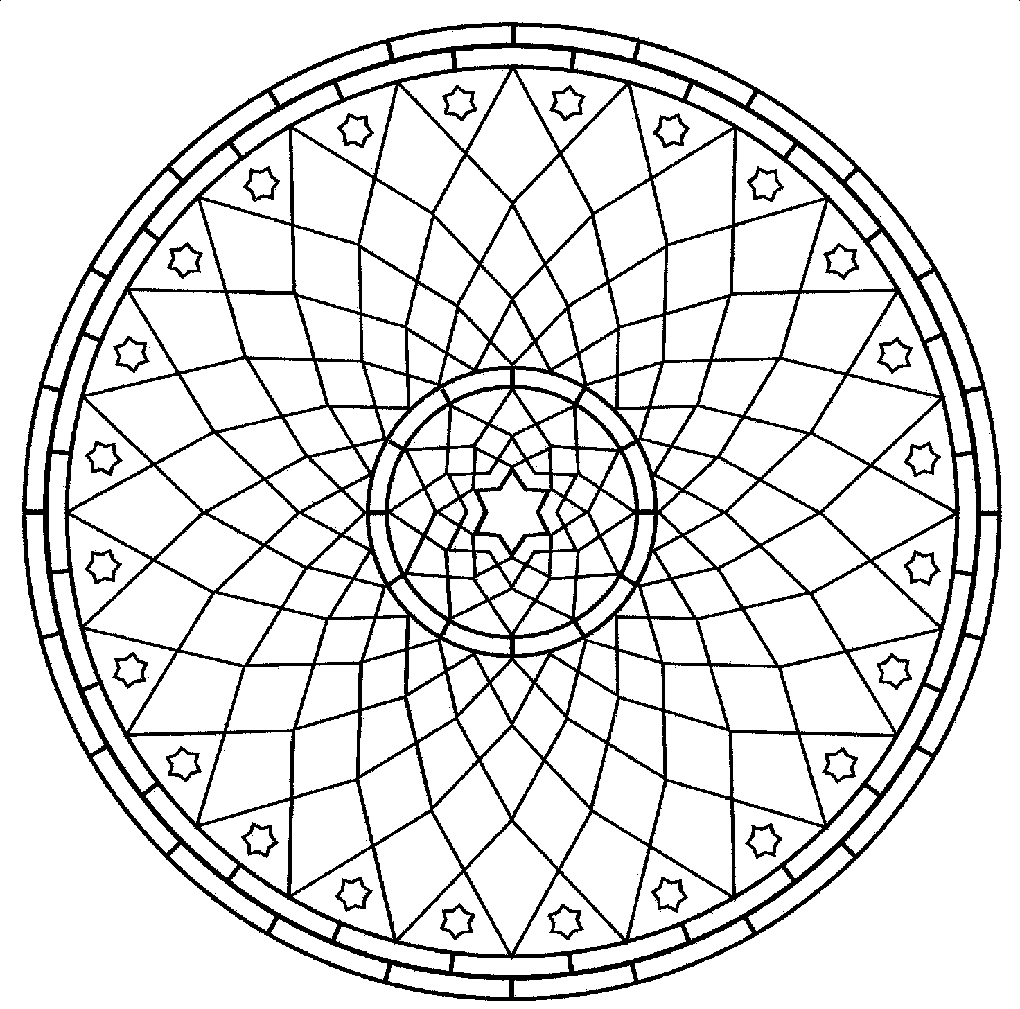 Geometric Art Coloring Page