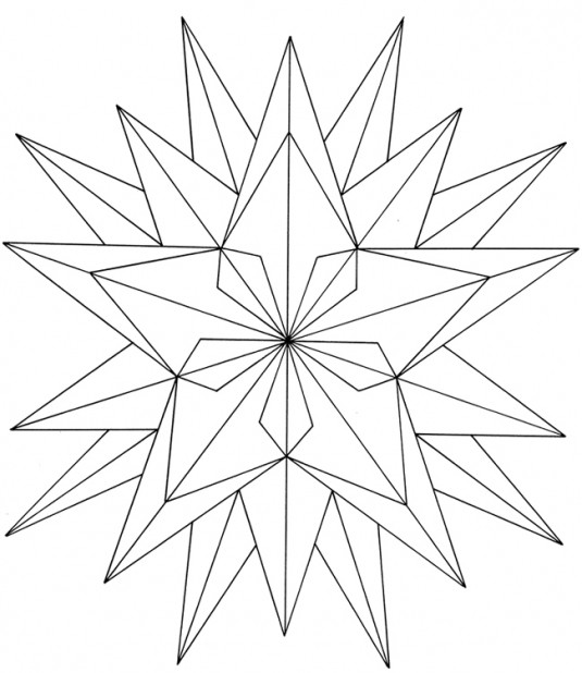 Christmas Geometric Coloring Pages