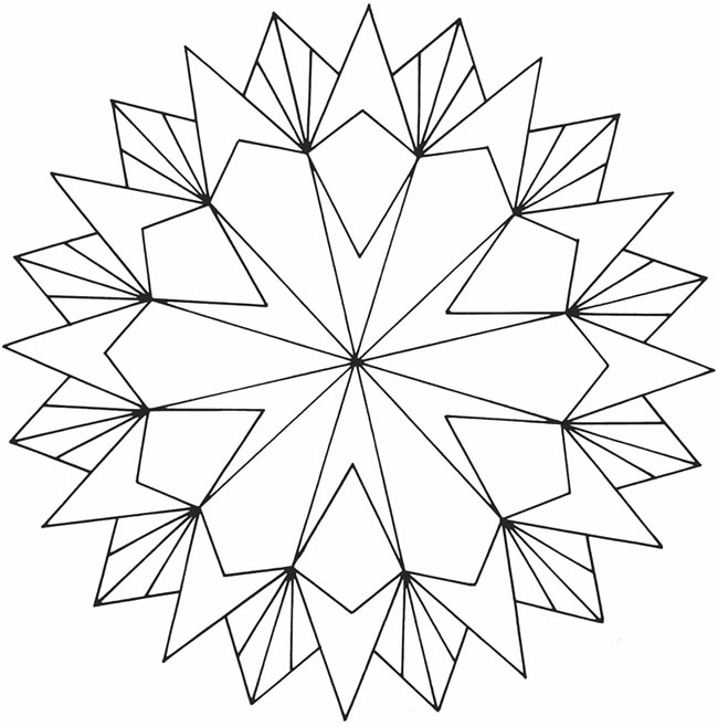 easy geometric design coloring pages - photo#5