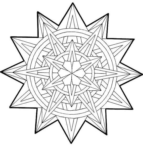 Stunning Geometric Coloring Pages Free Printable Download ... | 618x599