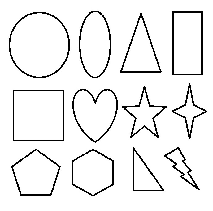 Free Geometric Shapes Coloring Pages