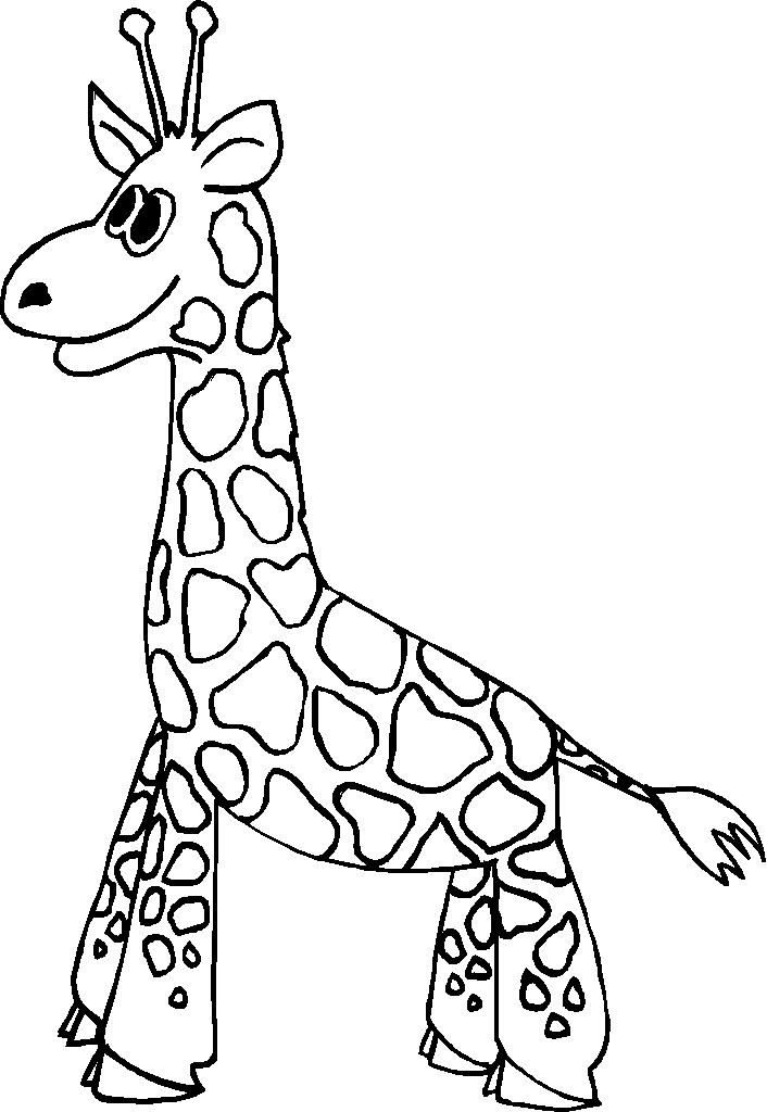 Free Giraffe Coloring Pages for Kids