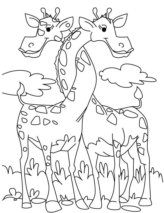 Giraffe Coloring Page to Print