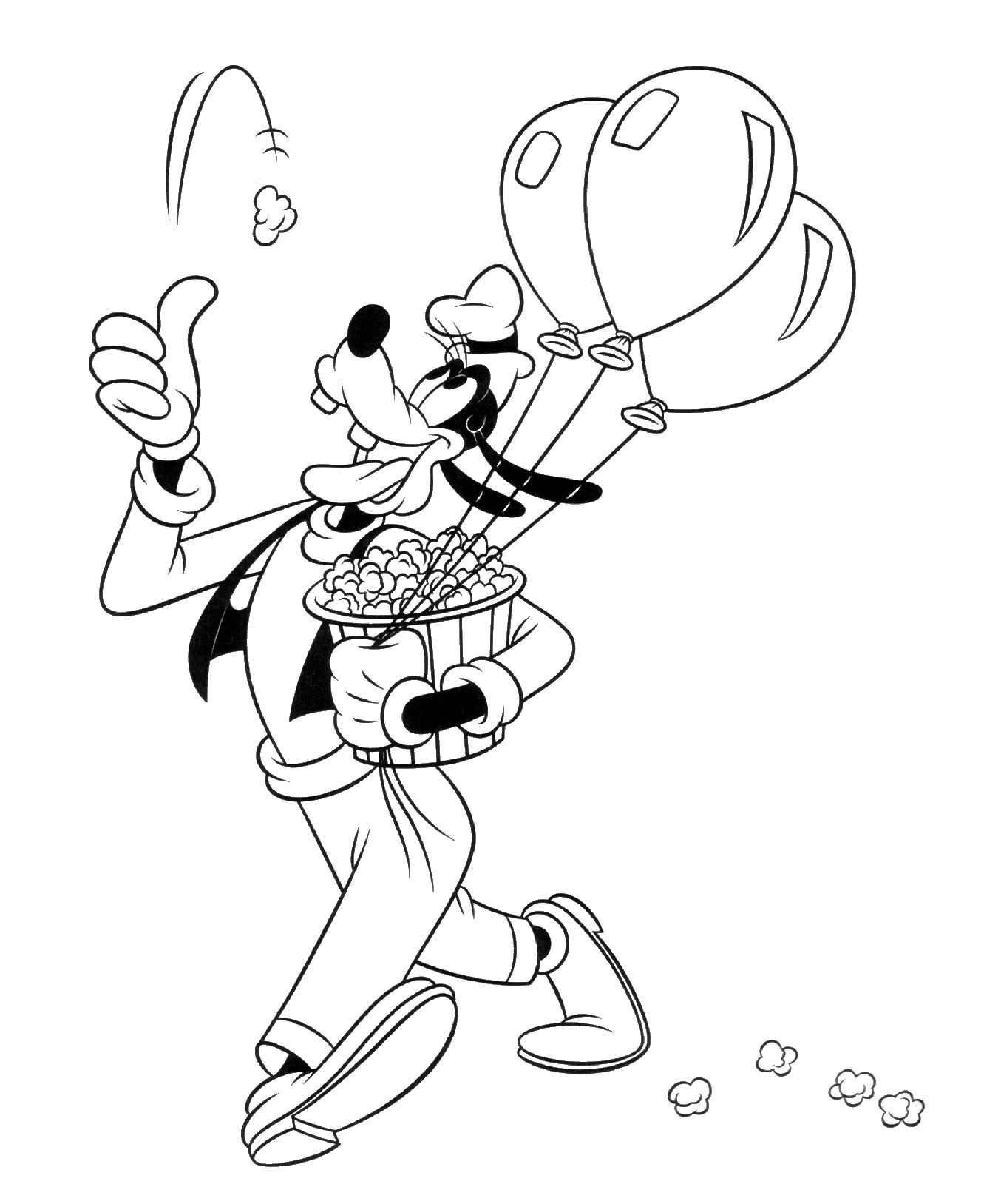 Goofy Coloring Pictures Printable