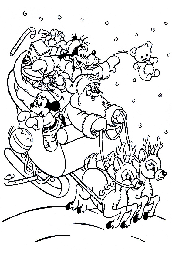Goofy and Mickey Coloring Pages
