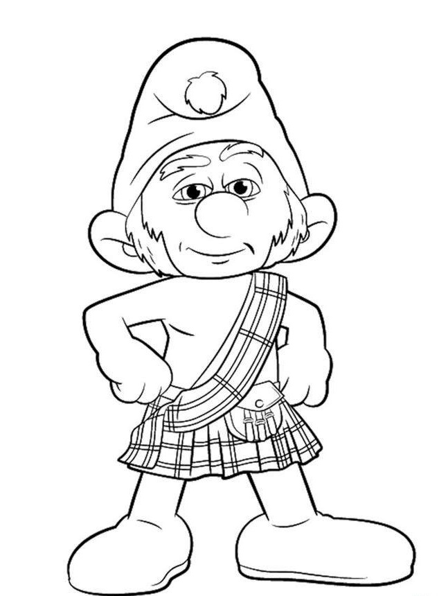 Gutsy Smurf Coloring Page