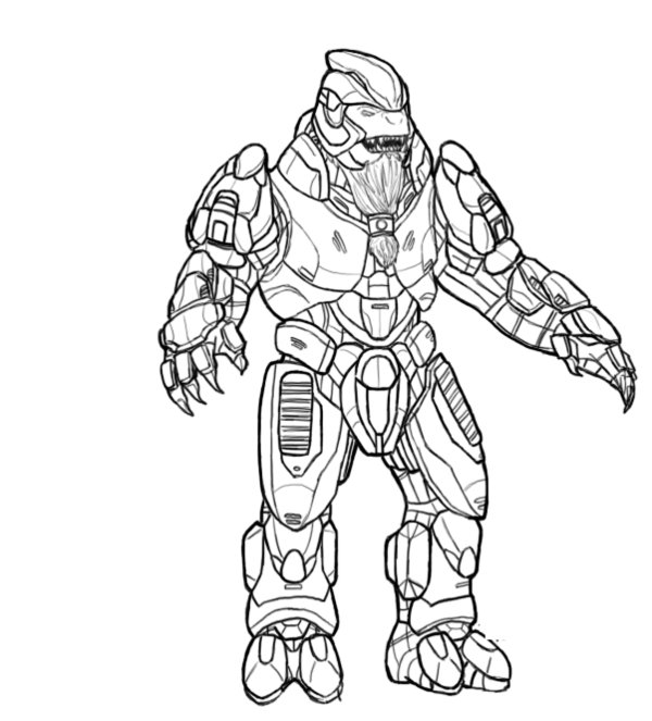 Halo Coloring Pages Printable