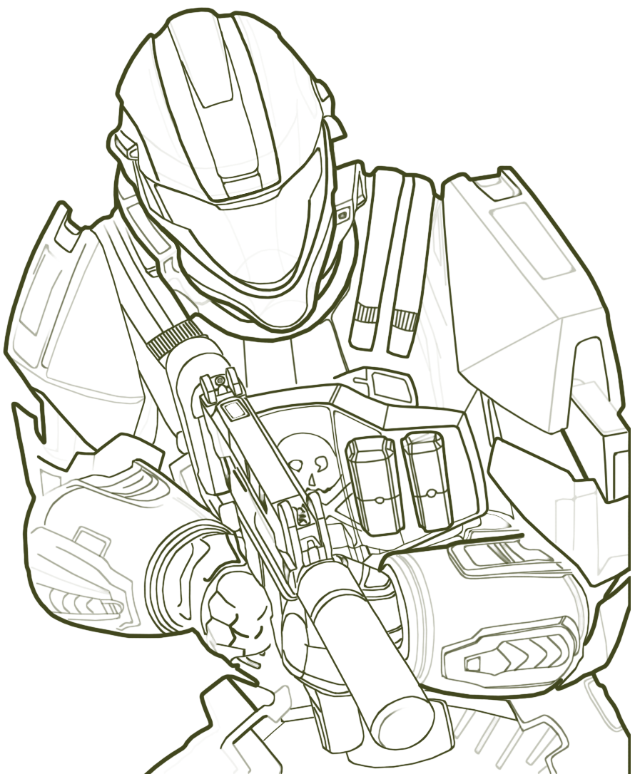 Halo Pictures to Color