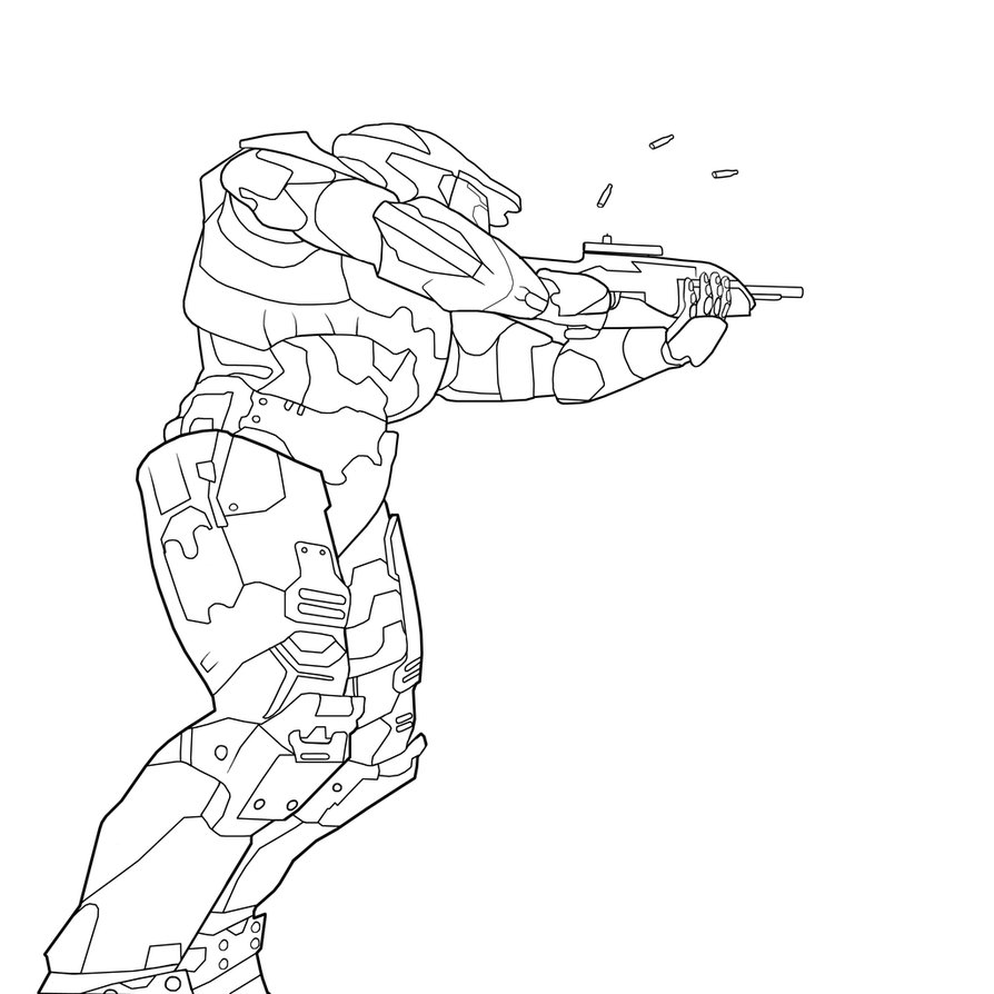 Halo Master Chief Coloring Page