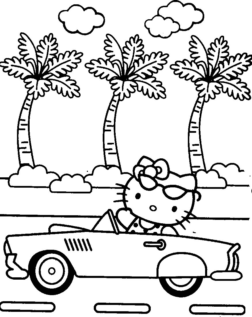 Hello kitty coloring page to print hello kitty coloring page