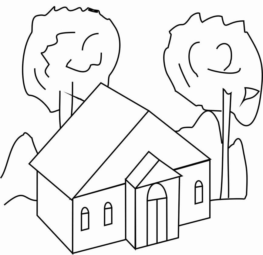 House Coloring Pages Preschool