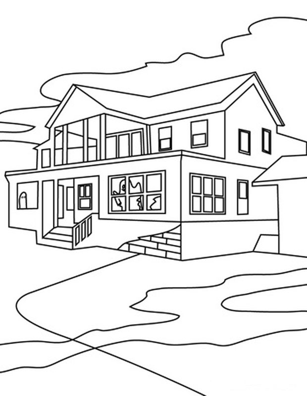 House Coloring Sheets to Print