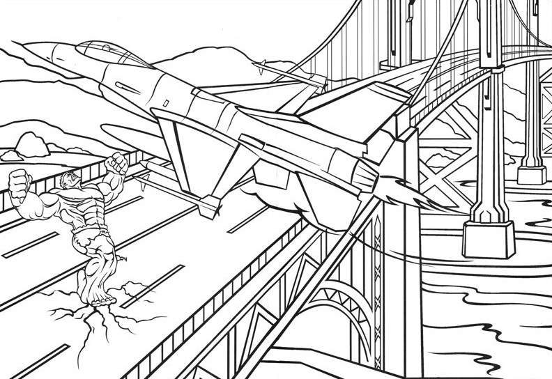 Incredible Hulk Coloring Pages Free
