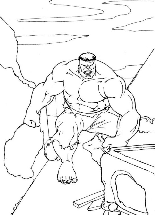 Hulk Pictures to Color