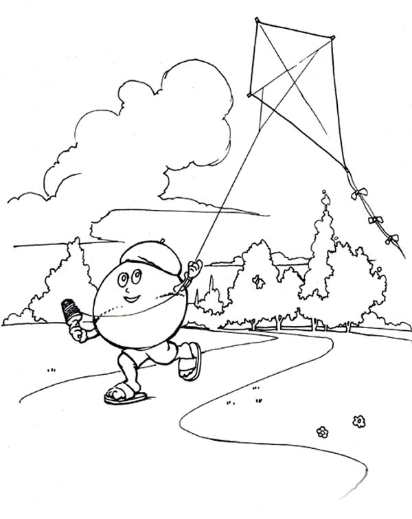 Kite Coloring Images