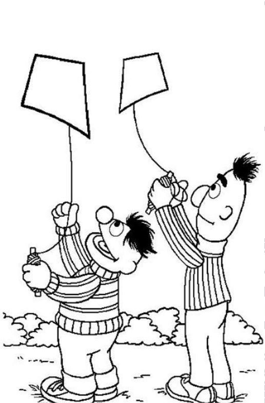 Kite Coloring Pages 360ColoringPages