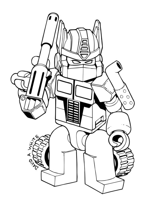 Lego Transformers Coloring Page