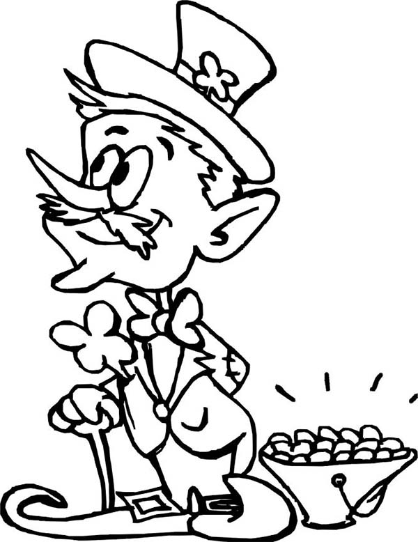 Free Leprechaun Coloring Pages Printable