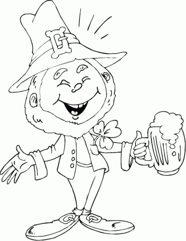 Free Leprechaun Coloring Sheets