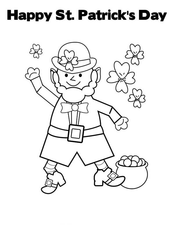 Leprechaun Coloring Sheet