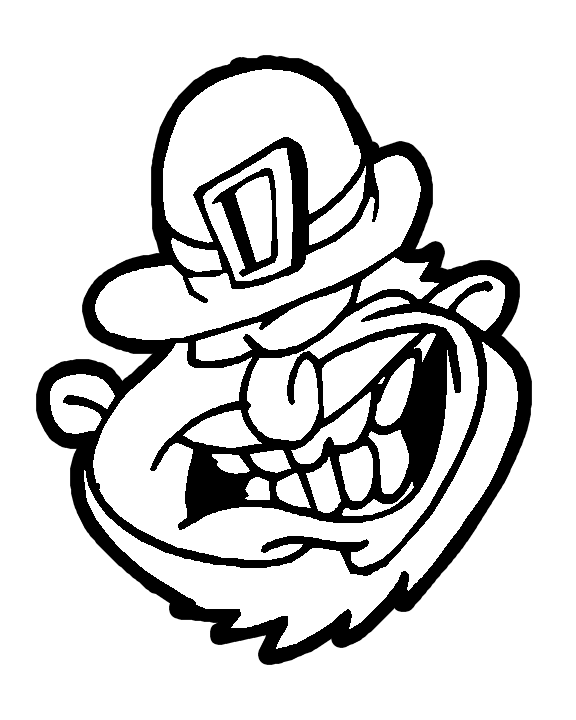 Leprechaun Face Coloring Page