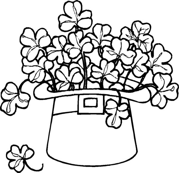 Leprechaun Hat Coloring Pages