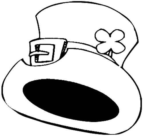 Leprechaun Hat Coloring Sheets