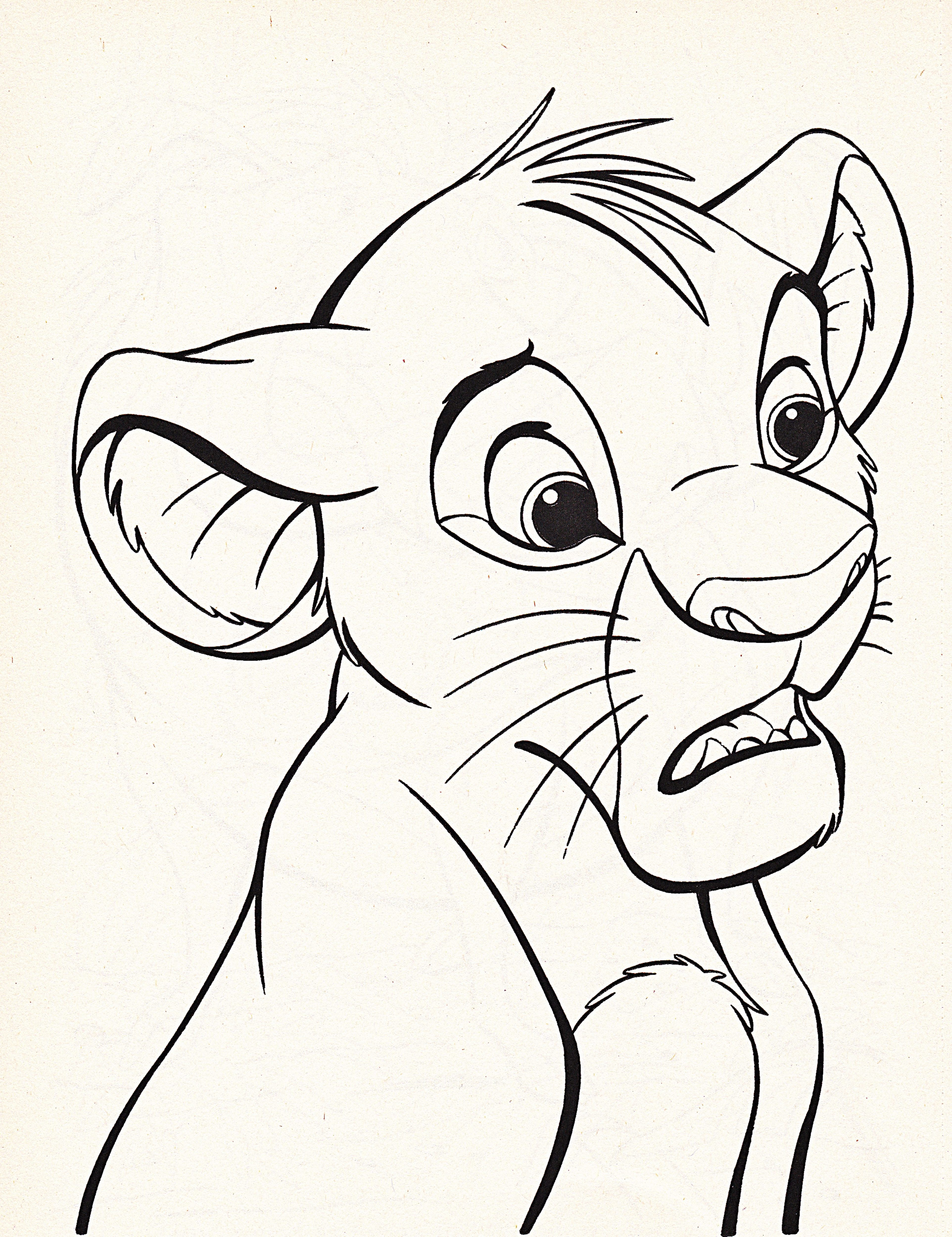 Simba coloring pages 360coloringpages for Lion color pages