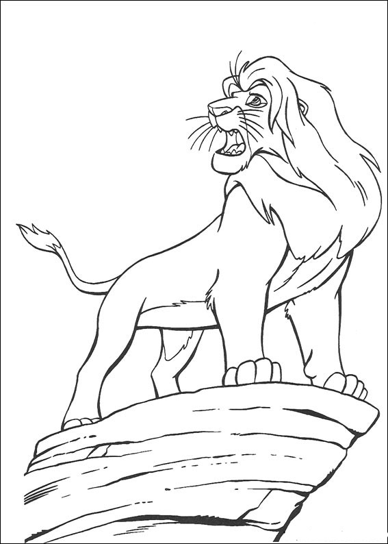 Free Lion King Simba Coloring Pages Printable