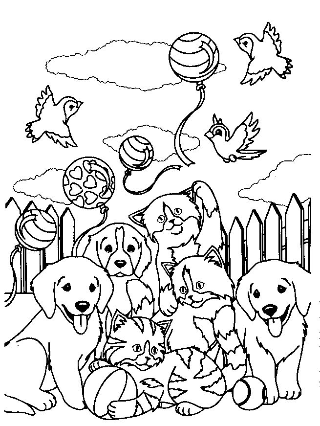 Lisa Frank Printable Animal Coloring Page