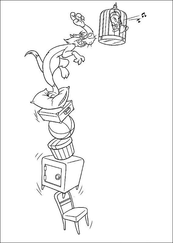 Looney Tunes Coloring Pages Sylvester