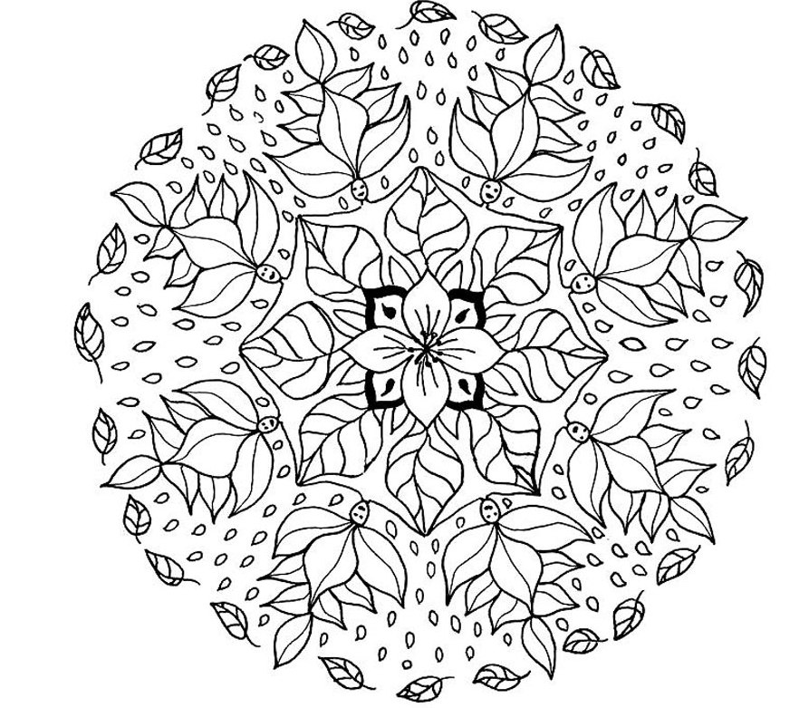 free printable coloring pages mandala designs | Mandala Coloring Pages | 360ColoringPages