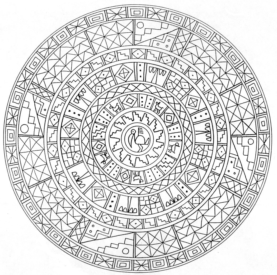 Mandala Coloring Page for Experts