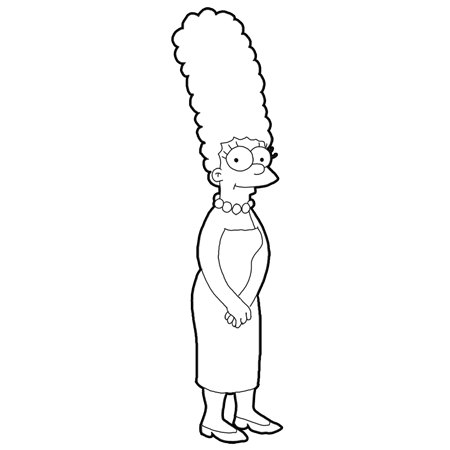 Simpson Coloring Page