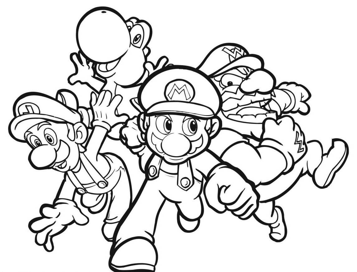 Free Mario Coloring Pages for Print