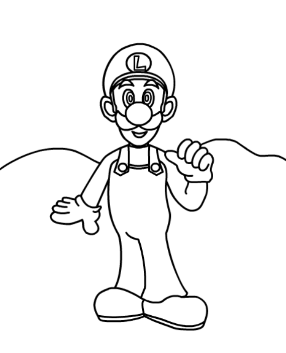 Mario Coloring Sheets for Kids
