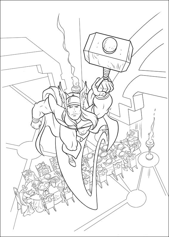 Marvel Thor Coloring Pages Free