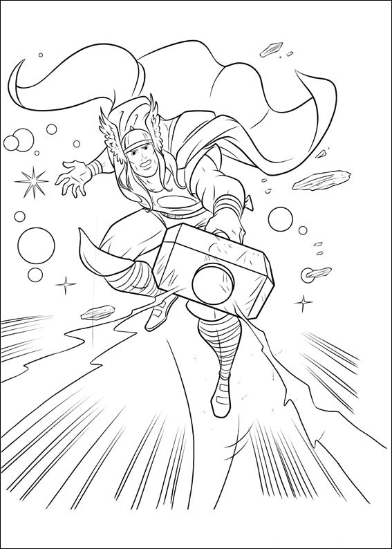 Free Marvel Thor Coloring Sheets