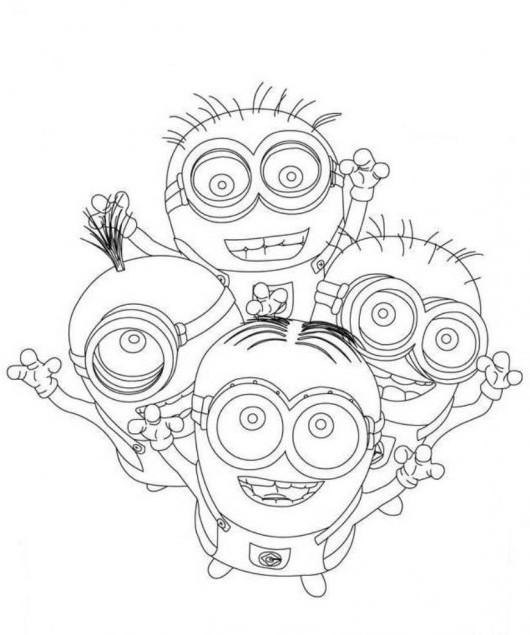 Minions Despicable Me Coloring Page