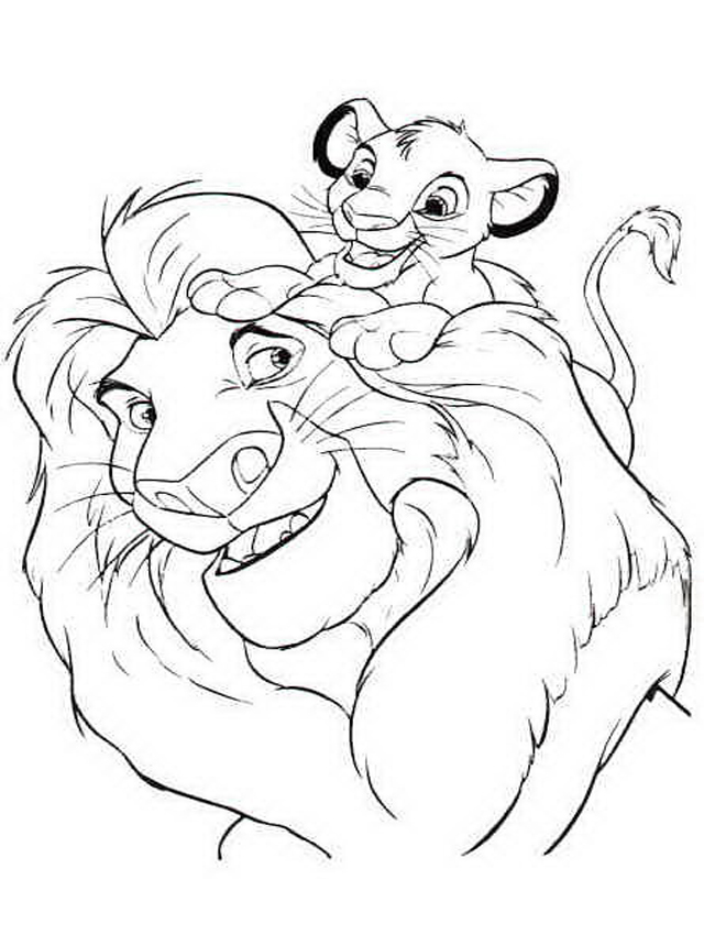 Simba Coloring Pages | 360ColoringPages