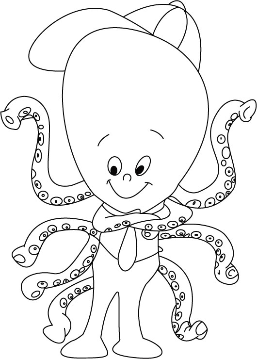 Octopus Coloring Sheet