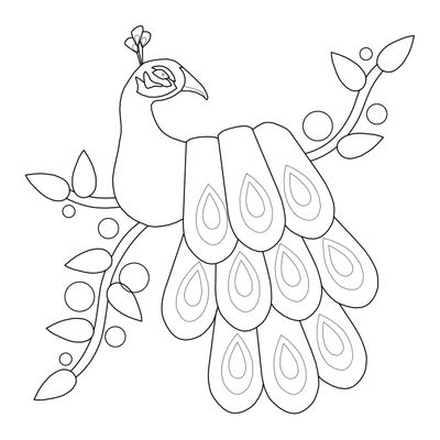 Free Peacock Coloring Sheets Printable