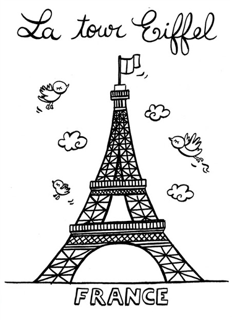 Effeil Tower Coloring Pages