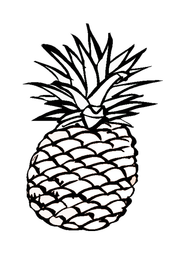 Pineapple Coloring Pages