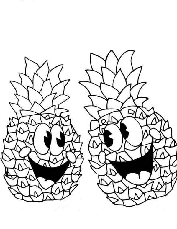 coloring pages pinaple - photo#22